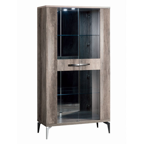 Matera 2 Door Glass Display Cabinet