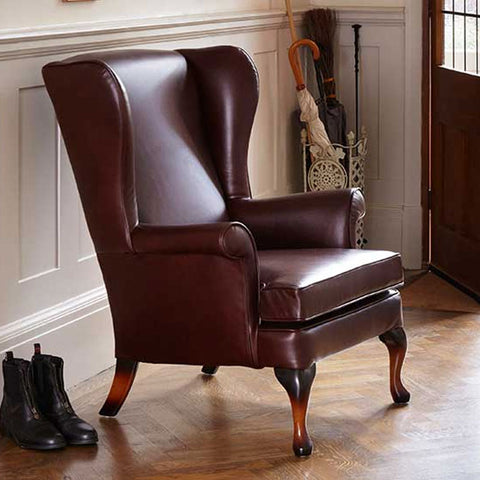 Parker Knoll Penshurst Leather Wing Chair