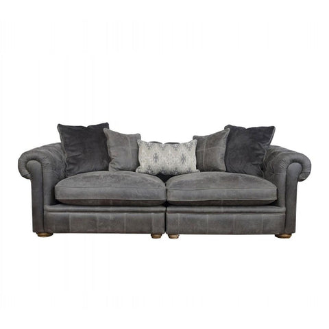 Alexander & James The Retreat Leather Midi Split Sofa