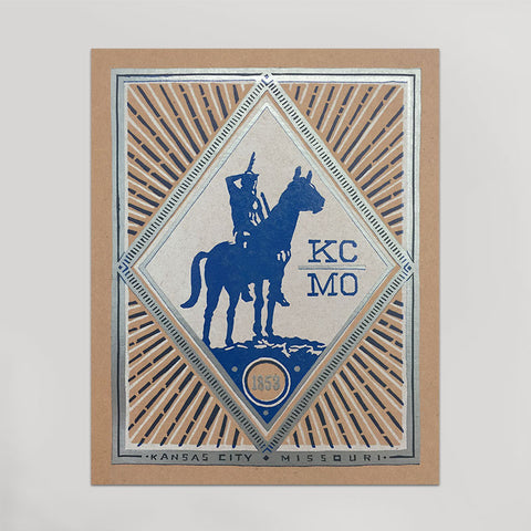 Letterpress prints hammerpress blue kcmo scout print reheart Image collections