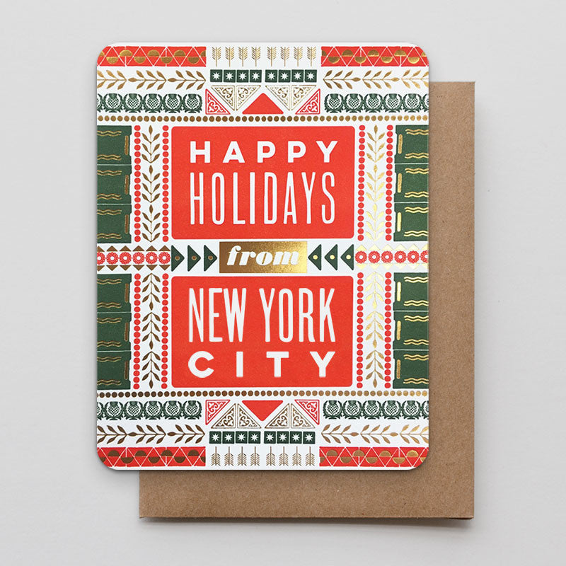 Happy holidays from new york city letterpress greeting card happy holidays from new york city m4hsunfo