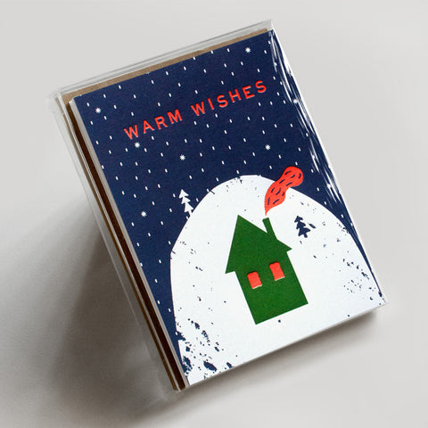 Letterpress greeting card sets hammerpress tagged boxed set warm wishes cozy cabin boxed set m4hsunfo