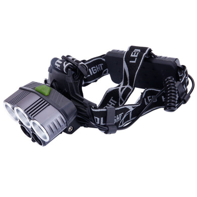 Type 5-LED 5000LM 3 Modes White Light Aluminum Alloy LED Headlamp Black