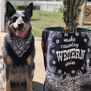 """Make Country Western Again"" Bandanas"