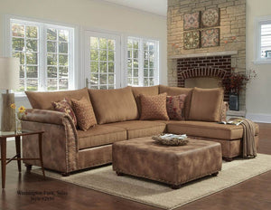 Padre' Almond / Florence Gold Sectional