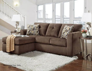 Kelly Chocolate Apartment Sectional