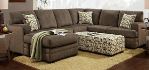 Hillel Pewter Sectional Sofa Couch