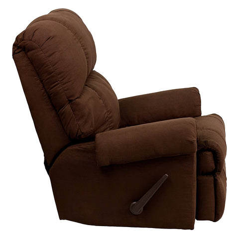 Image of Flash Furniture Contemporary Flatsuede Chocolate Microfiber Rocker Recliner