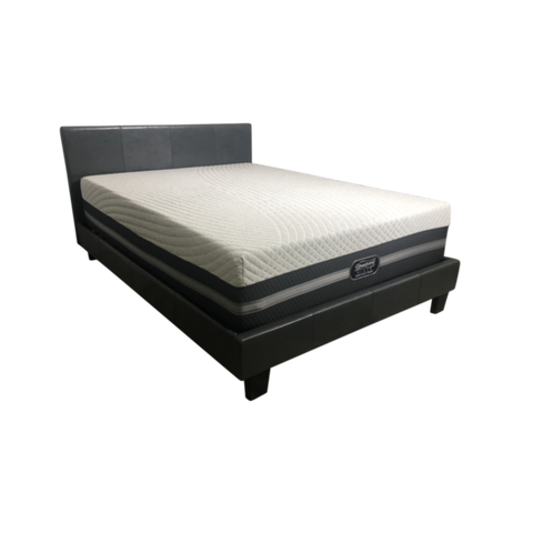 Image of Queen Simmons Black Ice Mattress + Queen Adjustable Base - PACKAGE DEAL