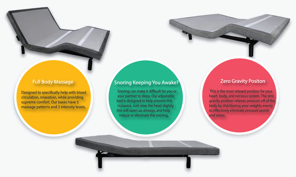 2 x Twin XL Mattresses + 2 x Twin XL Adjustable Bases - PACKAGE DEAL