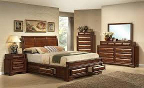 Carrington Storage Bedroom Set, King or Queen Size