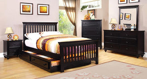 Caspian Twin Bed with Trundle, Dresser, and Nightstand
