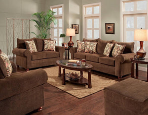 Grayton Mink Sofa and Loveseat
