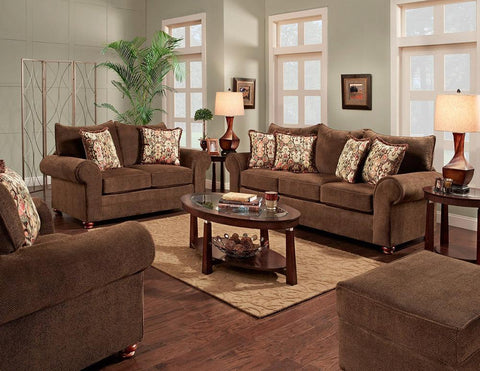 Image of Grayton Mink Sofa and Loveseat