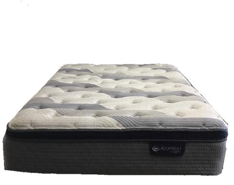 Overstock Serta Hybrid Blue Fusion 300 Pillow Top Plush Mattress