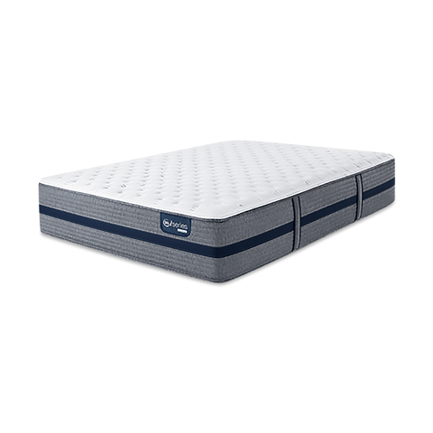 "Overstock Serta iSeries Hybrid 300 13.5"" Plush Mattress"