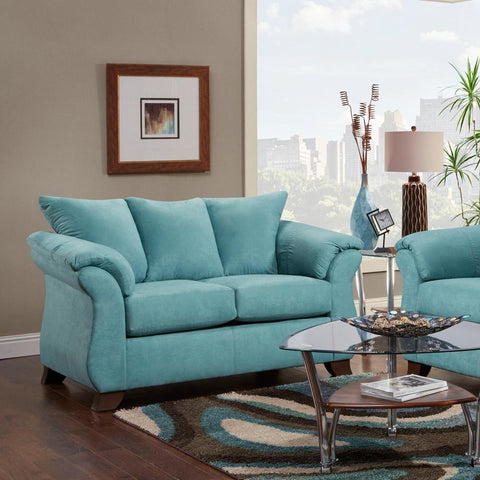 Image of Sensations Microfiber Sofa and Loveseat, Capri - Arkansas Furniture Mart