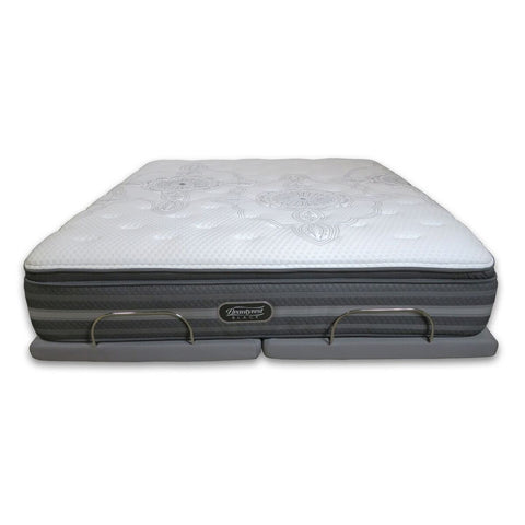 "Overstock Simmons Beautyrest Black Hybrid Plus Wellington 15.8"" Plush Pillow Top Mattress"