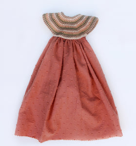 Dress with crocheted top for 55 cm friends