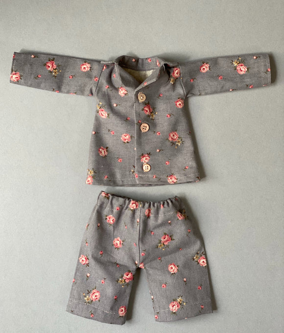 Dusty roses 100% cotton pajama