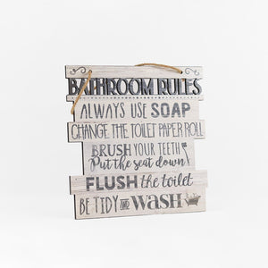 Bathroom Rules - SM (Deco Studio)