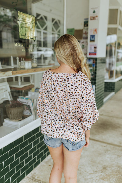 Animal Print Blush Top