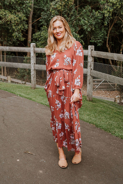 Bonnie Dress - Autumn Floral
