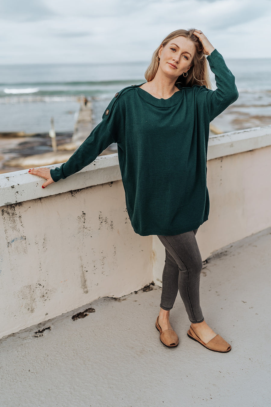 Button Emerald Knit