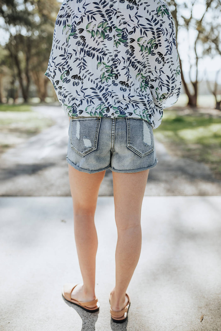 Distressed Vintage Denim Shorts