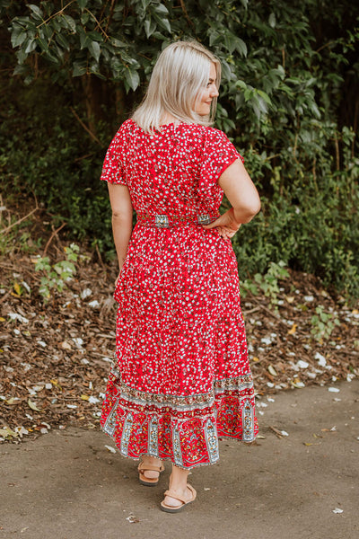 Ella Dress - Red Floral