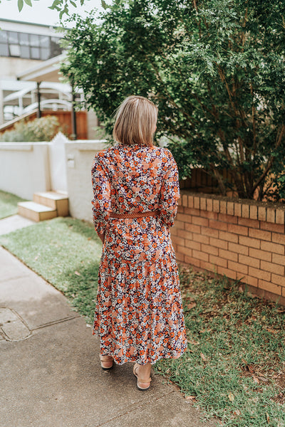 Floral Long Sleeve Maxi