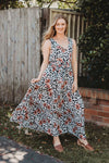 Floral Print Tiered Maxi