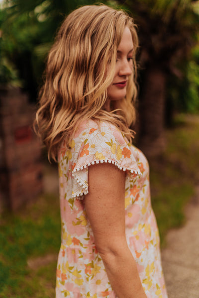 Floral Tiered Top