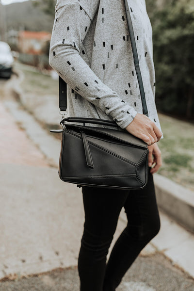 Geo Black Hip Bag