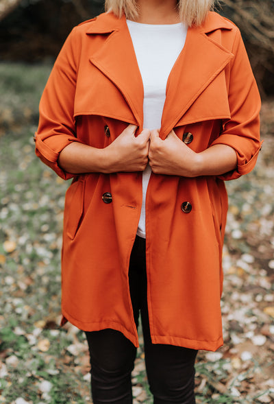 Jeanie Trench Coat - Rust