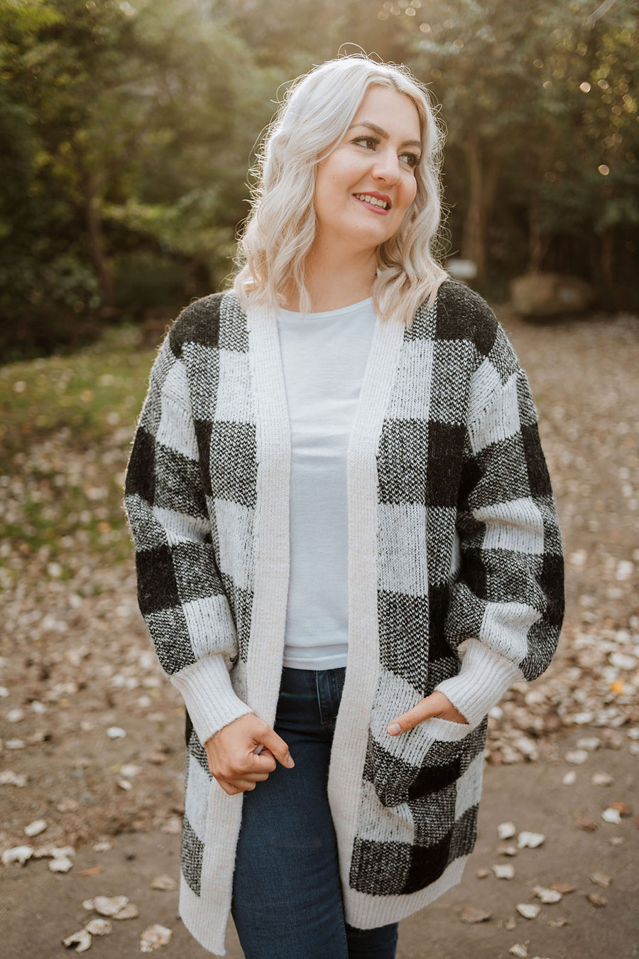 Juno Cardigan - Black Check