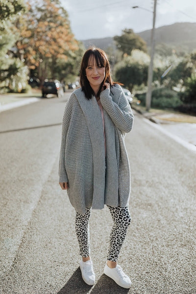 Long Line Grey Cardigan