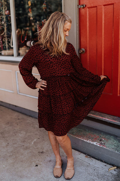 Marley Dress - Ruby Animal Print