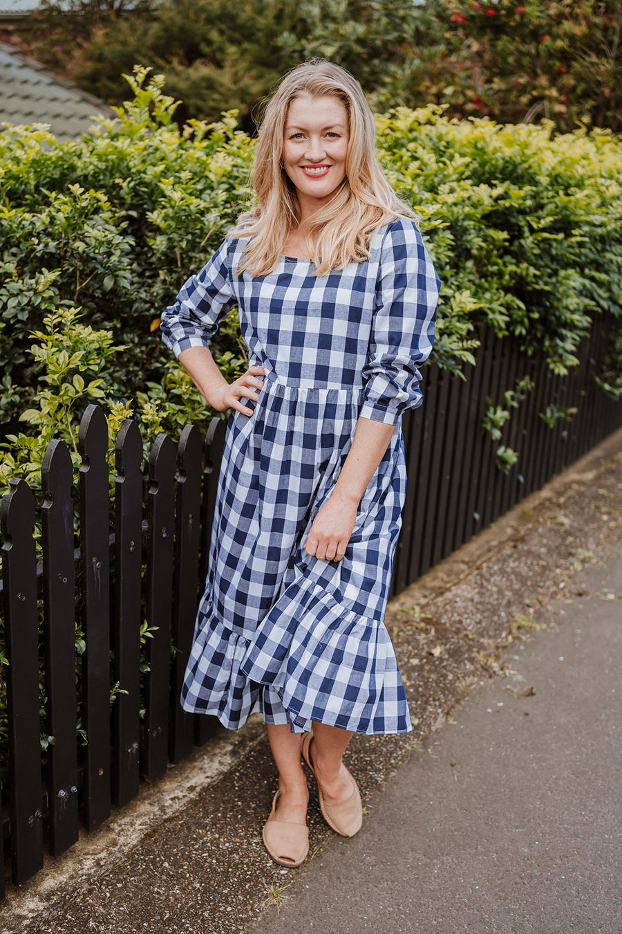 Milla Dress - Navy Gingham
