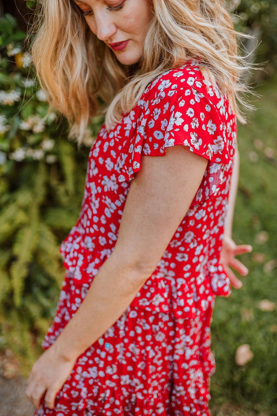 Rebecca Dress - Red Floral