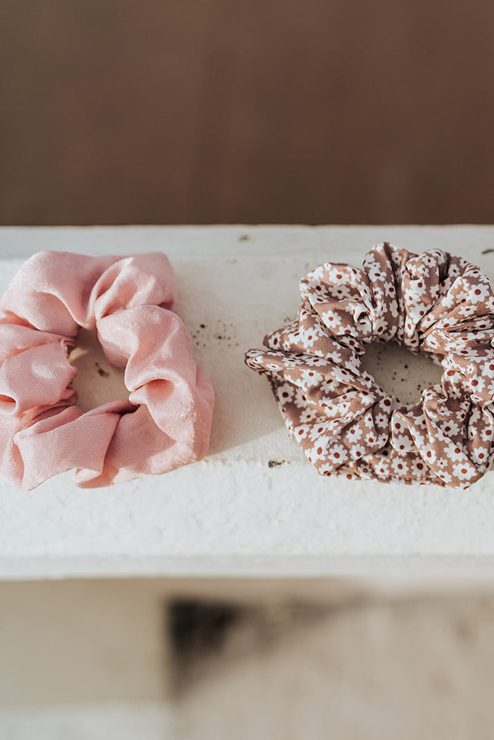Satin Pink Scrunchie