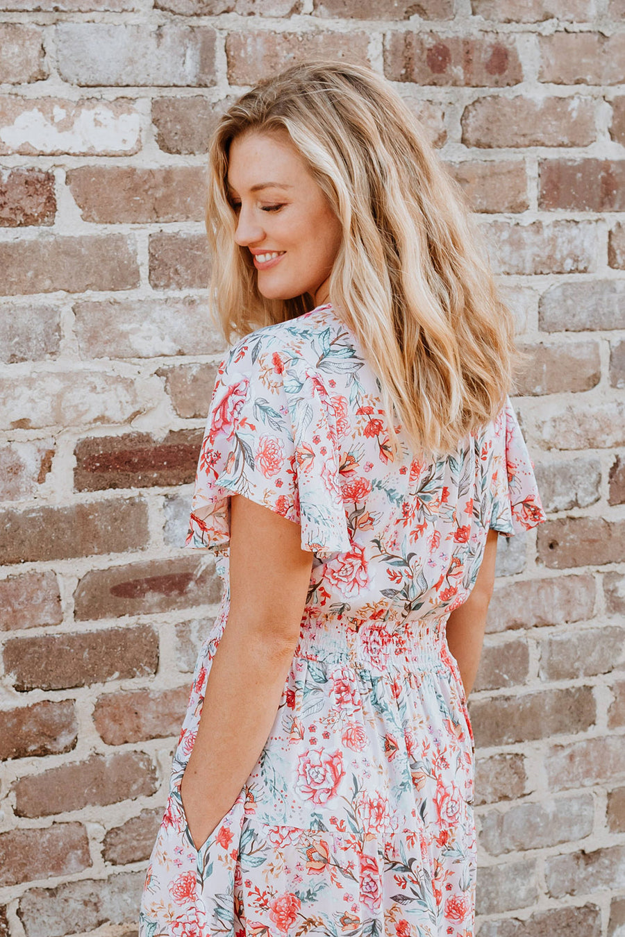 Savannah Dress - Blush Floral