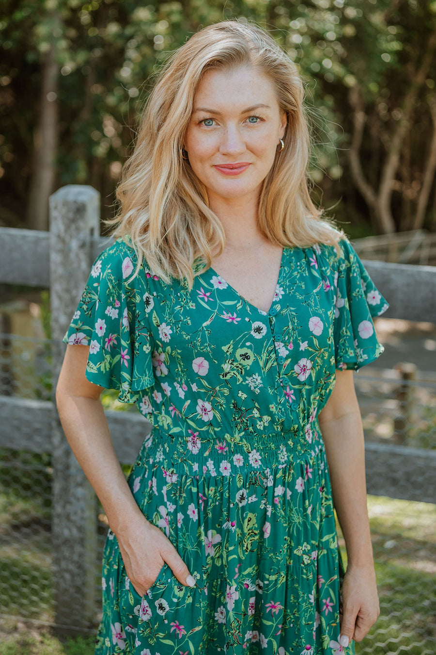 Savannah Dress - Garden Floral