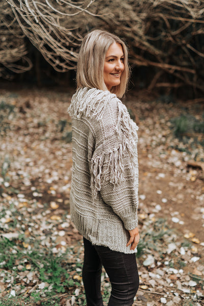 Shaggy Cardigan - Grey