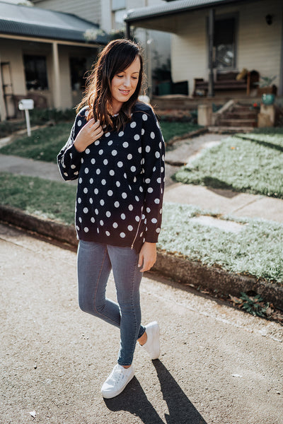 Spotty Blue Knit