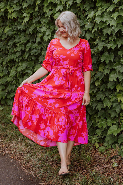 Stevie Dress - Red Angelica