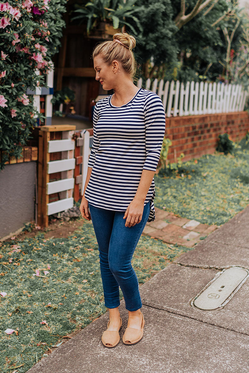 Stripe Hi-Lo Top
