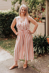 Watermelon Stripe Jumpsuit