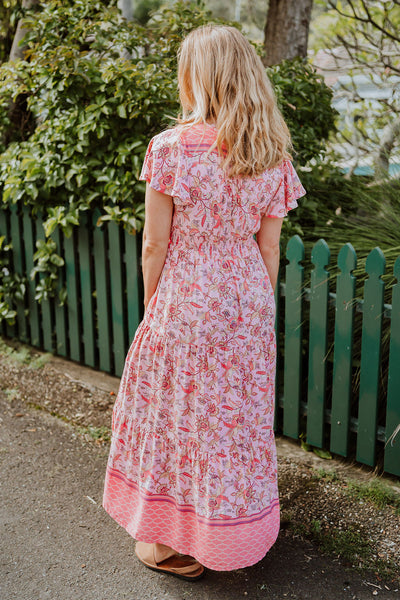 Summer Dress - Blush Floral