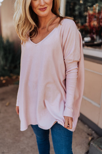 V Neck Blush Knit